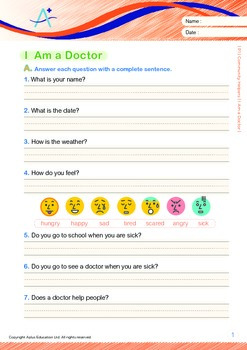 Community Helpers - I Am a Doctor (with 'Triple-Track Writing Lines')