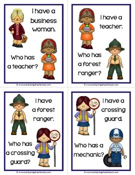 Community Helpers - I Have Who Has