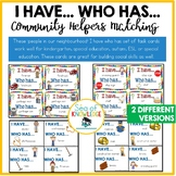 Community Helpers I Have, Who Has Game Autism Special Ed ESL