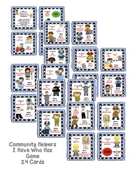 Community Helpers I Have Who Has Game & Vocabulary Cards