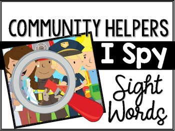 Community Helpers I Spy Sight Words