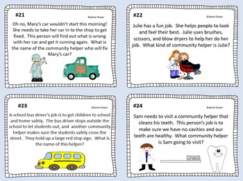 Community Helpers Inference Cards: Using Pictures as Context Clues
