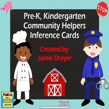 Community Helpers Inference Cards: Using Pictures as Conte