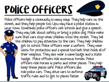 Community Helpers Informational Writing Packet