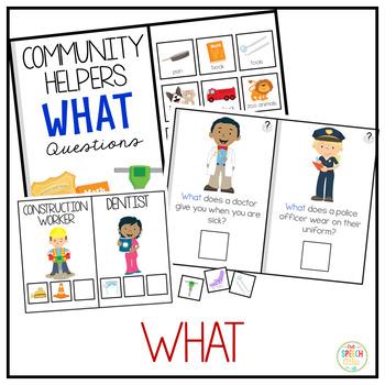Community Helper WH Questions Bundle