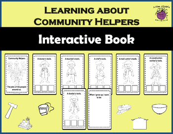 Community Helpers~Interactive Posters~Interactive Book~Jobs/Occupations & Tools