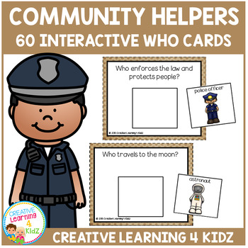 Community Helpers Interactive Who Cards