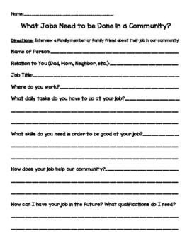 Community Helpers Interview
