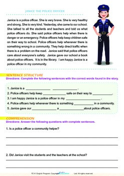 Community Helpers - Janice the Police Officer - Grade 2