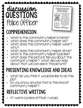 Community Helpers - Informational Text Reading and Comprehension Pack