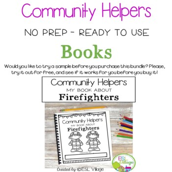Community Helpers No Prep Booklets