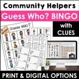 Community Helpers Guess Who Bingo Game   Jobs & Careers Vo