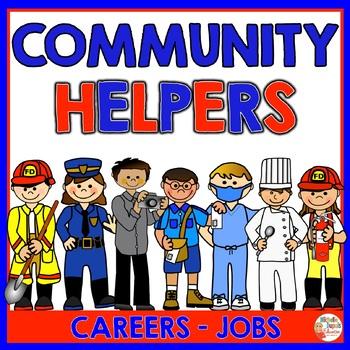 Community Helpers - Jobs (Police officer - Dentist - Teacher & MORE)