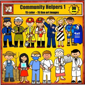 Community Helpers Clip Art - Jobs and Careers by Charlotte's Clips