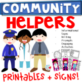 Community Helpers {K-2 Writing Prompts, Headbands, Student Booklet, and More}