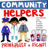 Community Helpers {K-2 Writing Prompts, Headbands, Student