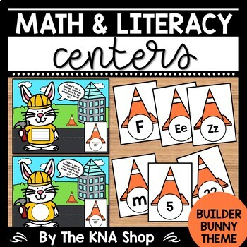 Community Helpers   Labor Day   Builder Bunny Theme   Math & Literacy Centers