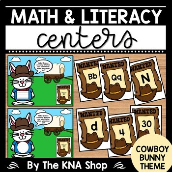 Community Helpers | Labor Day | Cowboy Bunny Theme | Math & Literacy Centers