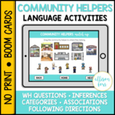 Community Helpers Language Activities BOOM Cards™️ Speech Therapy