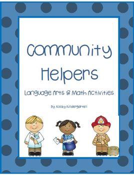 Community Helpers Language Arts & Math Activities