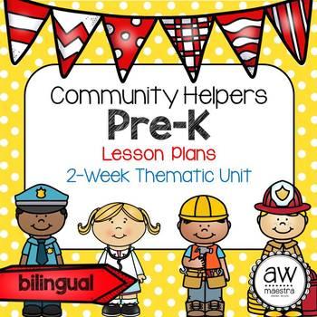 Community Helpers Lesson Plans Thematic Unit Pre-K English Spanish Bilingual