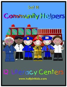 Community Helpers Literacy Centers: Half-Pint Readers Set 18