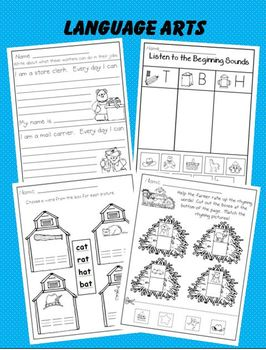 Community Helpers in Kindergarten:  Literacy  *  Music *  Math