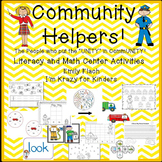 Community Helpers Literacy and Math Center Activities