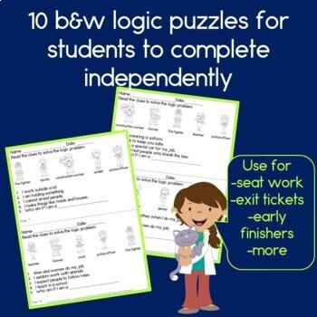 Community Helpers Logic Puzzles