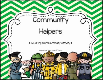 Community Helpers Making Words Literacy Activity