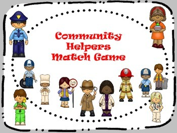 Community Helpers Match Game