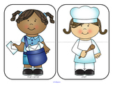 Community Helpers Puzzles Center for Preschool
