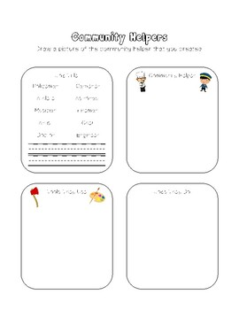 Community Helpers Match Writing Extension