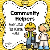 Community Helpers Matching File Folder Game