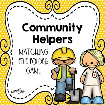 Community Helpers Matching File Folder Game