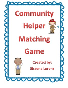 Community Helpers Matching Game