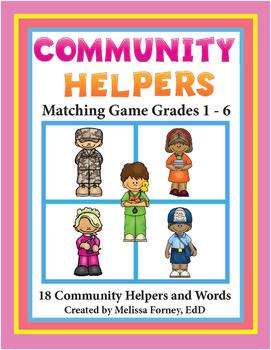 Community Helpers Literacy Centers Grades 1-6