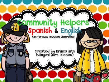 FREE Community Helpers Matching Game Spanish, English, and for DUAL Programs