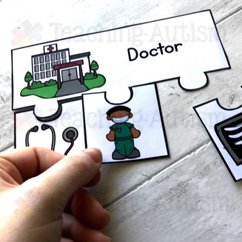Community Helpers Matching Job Jigsaw Puzzles