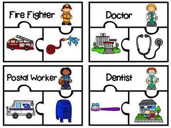 Community Helpers - Matching Puzzles