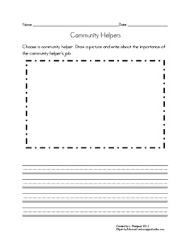 Community Helpers Matching and Practice Pages