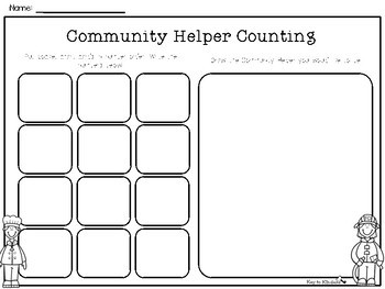 Community Helpers Math Activities - FREE