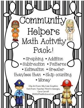 Community Helpers Math Activity Pack Set