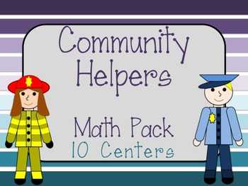 Community Helpers Math Centers