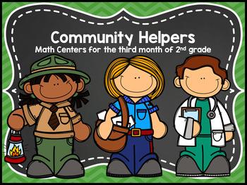 Community Helpers Math Centers - Nov 2nd Grade