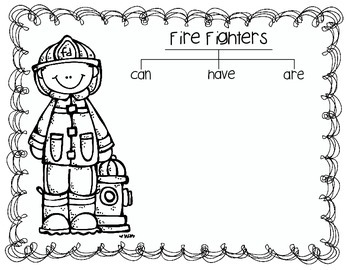 Community Helpers Math, Literacy and Writing