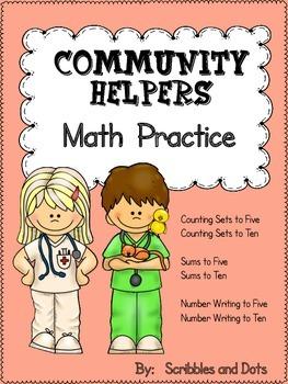 Community Helpers Math Practice 0-10