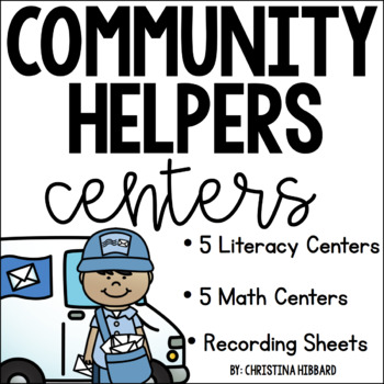 Community Helpers: Math and Literacy Centers