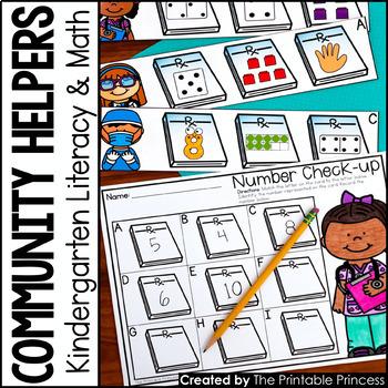 Community Helpers for Kindergarten {Math and Literacy Activities}
