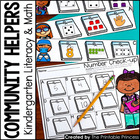 Community Helpers Math and Literacy Centers for Kindergarten {6 Pack}